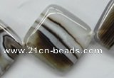 CAA525 15.5 inches 30*30mm diamond madagascar agate beads