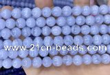 CAA5278 15.5 inches 10mm round natural blue lace agate beads