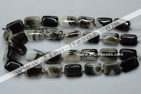 CAA535 15.5 inches 18*25mm rectangle madagascar agate beads