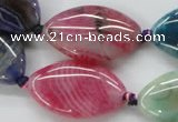 CAA548 15.5 inches 18*30mm marquise dyed madagascar agate beads