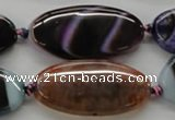 CAA553 15.5 inches 20*40mm oval dyed madagascar agate beads