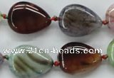 CAA557 15.5 inches 15*20mm flat teardrop dyed madagascar agate beads
