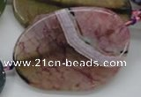 CAA559 15.5 inches 38*52mm freeform dyed madagascar agate beads