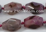 CAA611 15.5 inches 18*25mm faceted nuggets dragon veins agate beads