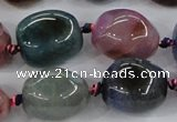 CAA617 15.5 inches 15*20mm nuggets dragon veins agate beads