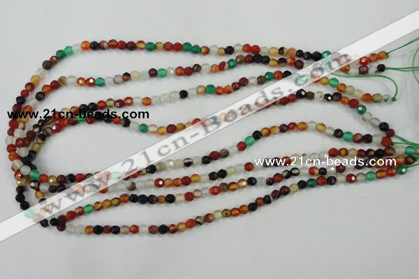 CAA706 15.5 inches 4mm faceted round fire crackle agate beads
