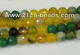 CAA708 15.5 inches 6mm faceted round fire crackle agate beads