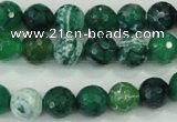 CAA713 15.5 inches 10mm faceted round fire crackle agate beads