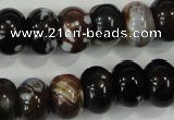 CAA733 15.5 inches 10*14mm rondelle fire crackle agate beads