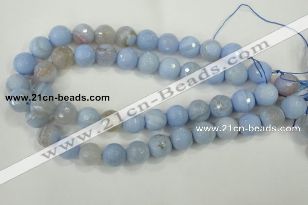 CAA741 15.5 inches 18mm faceted round blue lace agate beads