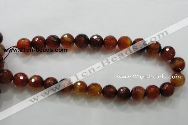 CAA814 15.5 inches 16mm faceted round fire crackle agate beads