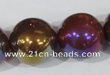 CAA876 15.5 inches 24mm round AB-color red agate beads