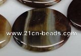 CAA906 15.5 inches 30*40mm oval agate gemstone beads wholesale