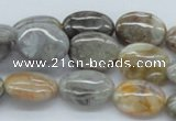 CAB148 15.5 inches 12*16mm oval bamboo leaf agate beads