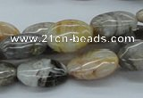 CAB149 15.5 inches 13*18mm oval bamboo leaf agate beads