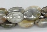 CAB150 15.5 inches 14*18mm oval bamboo leaf agate beads