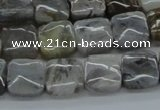 CAB152 15.5 inches 12*12mm square bamboo leaf agate beads