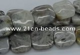 CAB153 15.5 inches 14*14mm square bamboo leaf agate beads