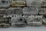 CAB158 15.5 inches 13*18mm rectangle bamboo leaf agate beads