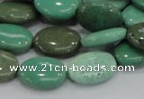 CAB30 15.5 inches 12*16mm oval green grass agate gemstone beads