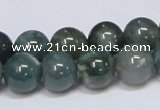 CAB386 15.5 inches 12mm round moss agate gemstone beads wholesale