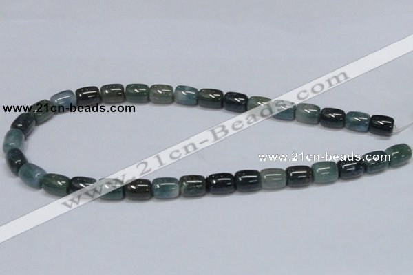 CAB392 15.5 inches 10*12mm column moss agate gemstone beads wholesale