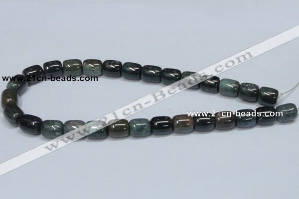 CAB393 15.5 inches 12*14mm column moss agate gemstone beads wholesale