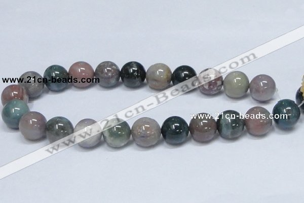 CAB436 15.5 inches 18mm round indian agate gemstone beads wholesale