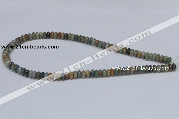 CAB440 15.5 inches 4*8mm rondelle indian agate gemstone beads