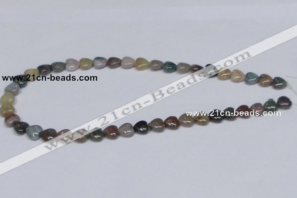 CAB453 15.5 inches 10*10mm heart indian agate gemstone beads