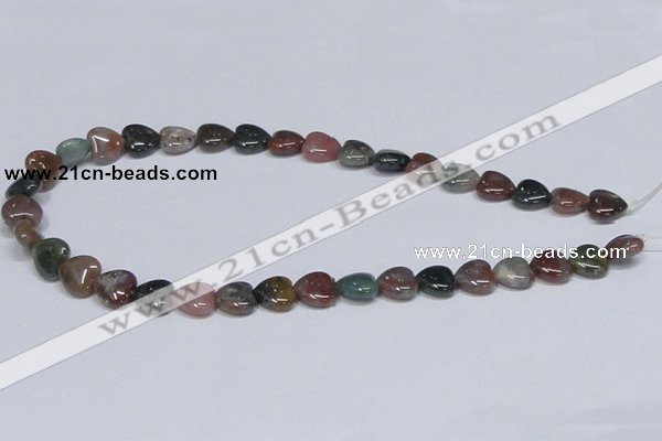 CAB454 15.5 inches 12*12mm heart indian agate gemstone beads