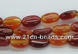CAB494 15.5 inches 8*12mm oval red agate gemstone beads wholesale
