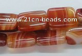 CAB506 15.5 inches 13*18mm rectangle red agate beads wholesale