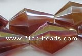 CAB545 15.5 inches 25*30mm faceted bicone AB-color red agate beads
