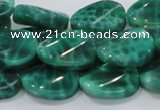 CAB58 15.5 inches 14*18mm twisted oval peafowl agate gemstone beads