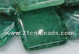CAB61 15.5 inches 28*28mm square peafowl agate gemstone beads