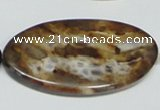 CAB632 15.5 inches 25*50mm oval leopard skin agate beads wholesale