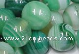 CAB719 15.5 inches 16mm round green agate gemstone beads wholesale