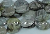 CAB90 15.5 inches 12*16mm oval silver needle agate gemstone beads