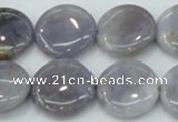CAB925 15.5 inches 20mm coin natural purple agate beads wholesale