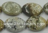 CAB950 15.5 inches 22*30mm oval ocean agate gemstone beads