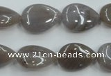 CAB957 15.5 inches 13*18mm flat teardrop ocean agate gemstone beads