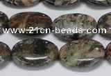 CAF125 15.5 inches 10*14mm oval Africa stone beads wholesale