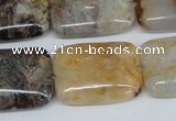 CAG1112 15.5 inches 18*25mm rectangle bamboo leaf agate beads