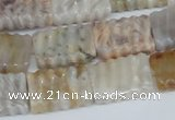 CAG1122 15.5 inches 13*18mm carved rectangle bamboo leaf agate beads