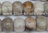 CAG1127 15.5 inches 13*18mm rondelle bamboo leaf agate beads