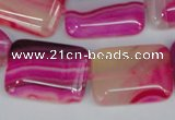 CAG1185 15.5 inches 18*25mm rectangle line agate gemstone beads