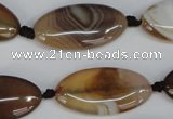 CAG1320 15.5 inches 15*30mm marquise line agate gemstone beads