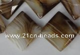 CAG1395 15.5 inches 20*20mm faceted diamond line agate gemstone beads