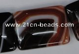 CAG1398 15.5 inches 30*40mm rectangle line agate gemstone beads